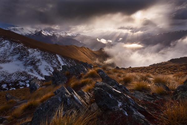 Glen Dene Ridge near Isthmus Peak, Lake Hawea